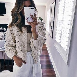 Chicwish Chunky Pom pom sweater